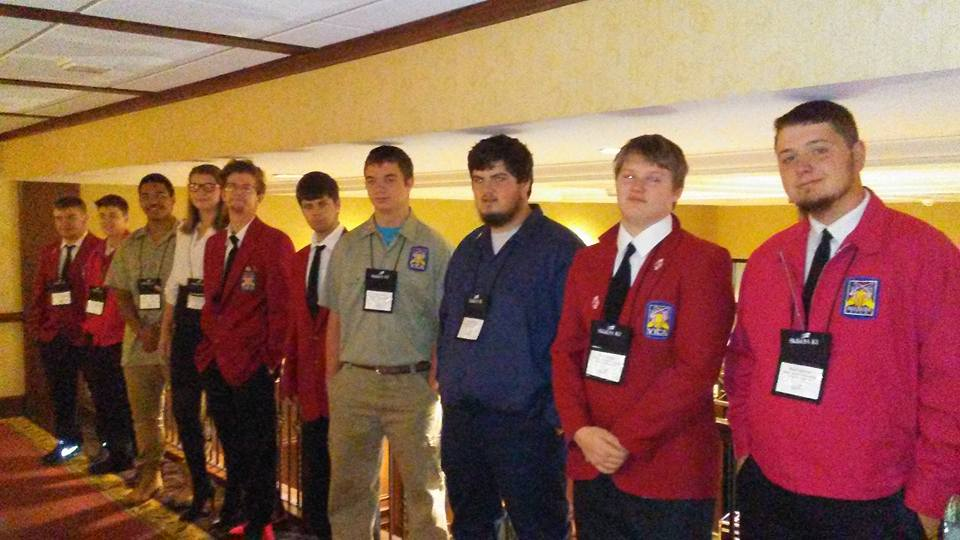 Skills USA members who competed at State