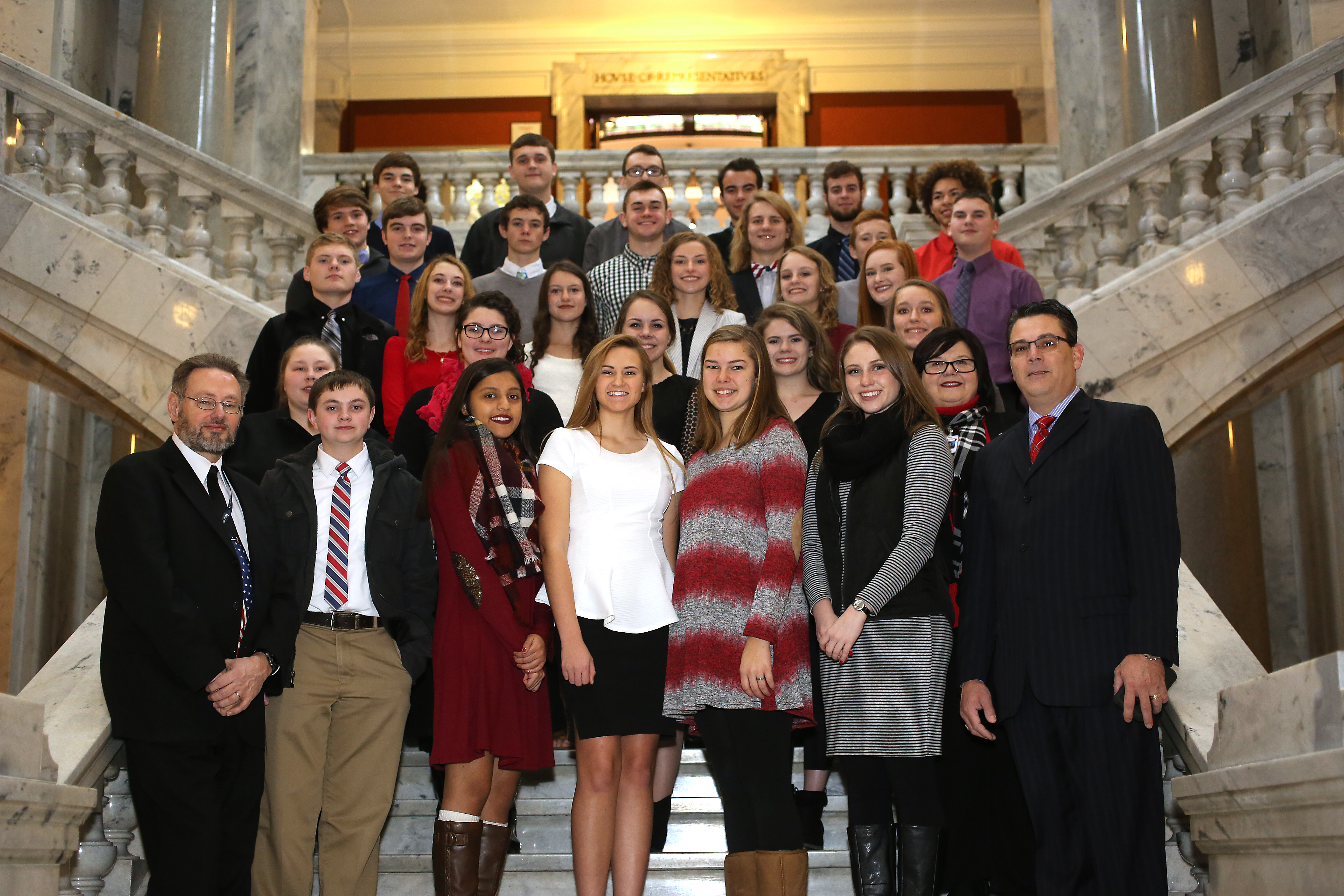 Representative Ken Upchurch posed for a photo with the WCHS Teen Republicans