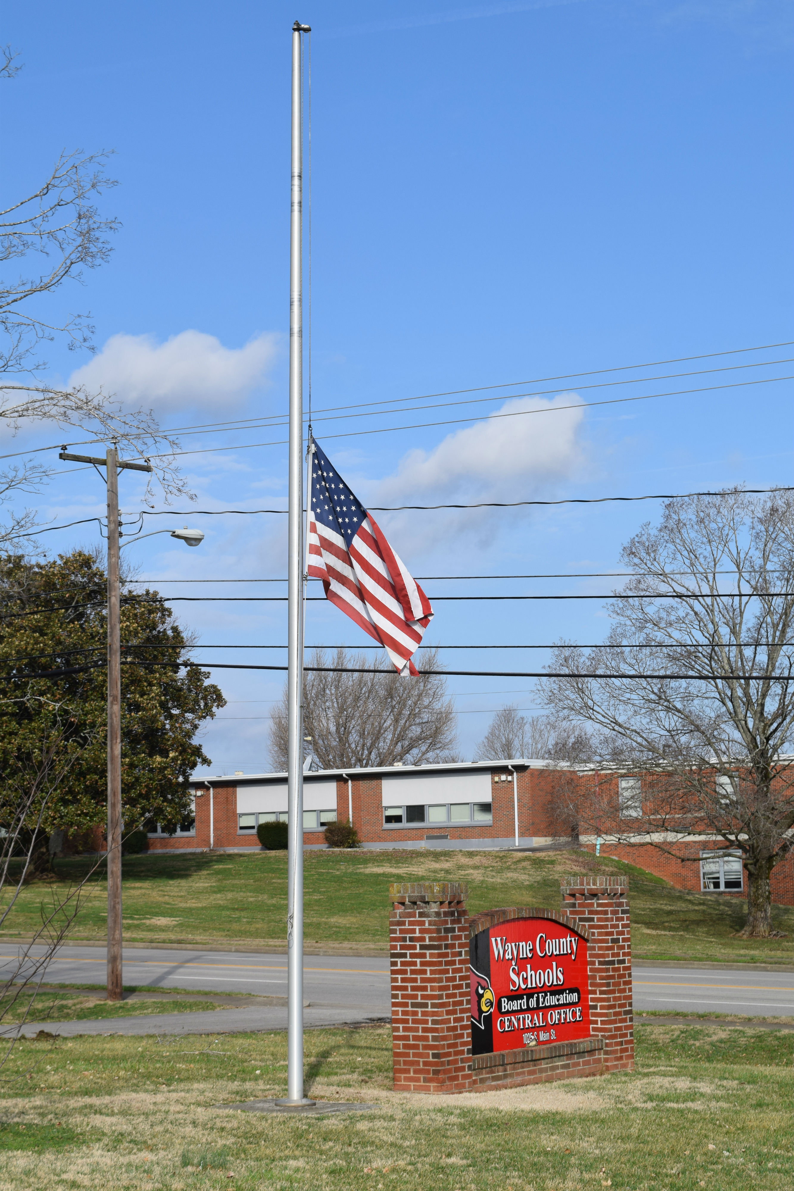 WCS Flag at half-staff