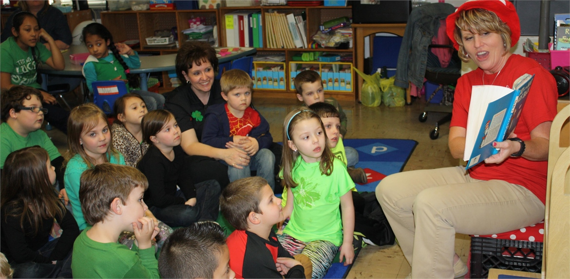 Kindergartners celebrate Read Across America