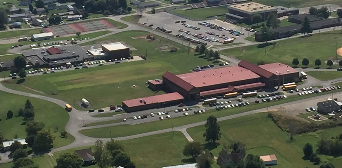 Wayne County High School from the sky