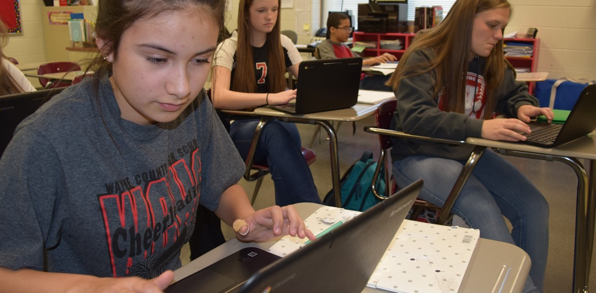 Students appreciate using Chrome Books in the classroom for virtual learning