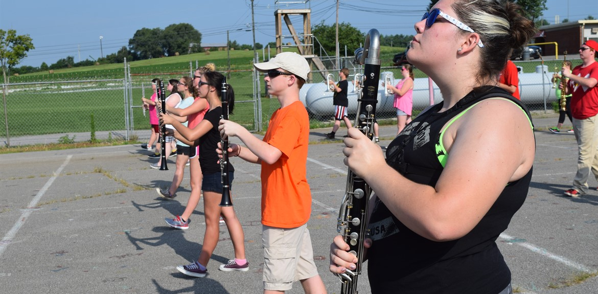 Band Camp begins in preparation for the 2016 marching season