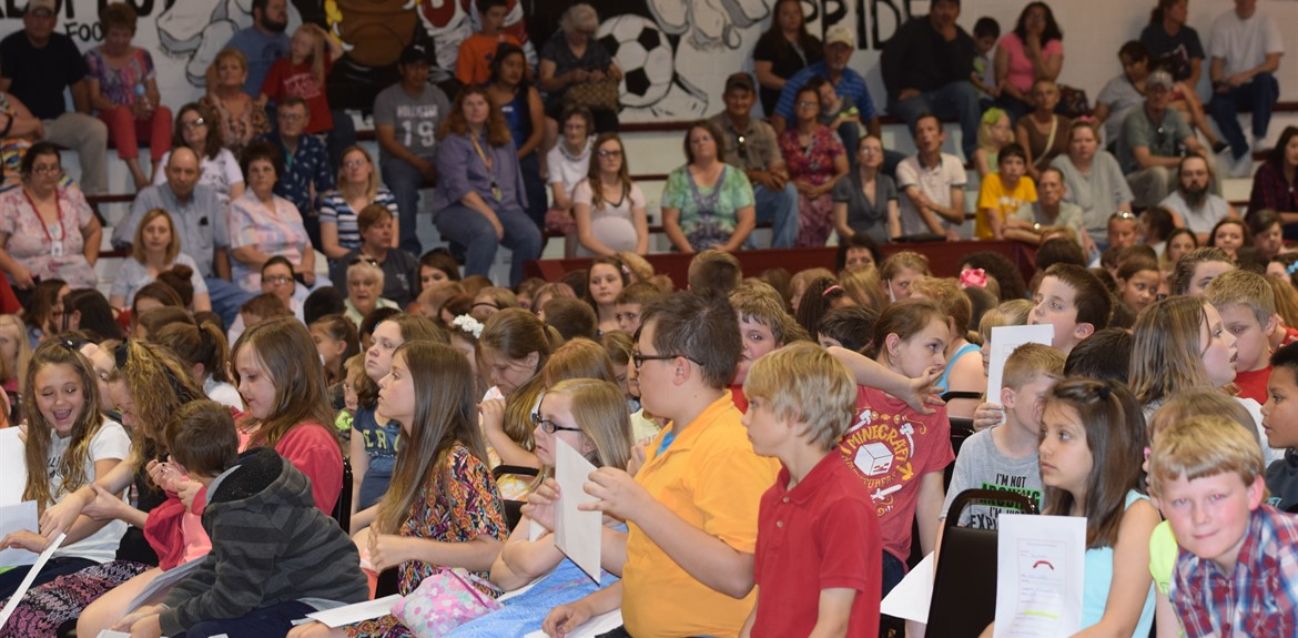 Monticello Elementary students celebrate the end of the school year with an awards day