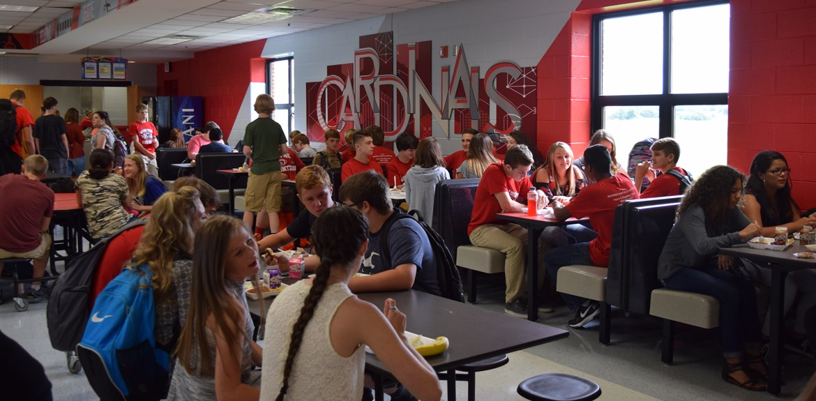 WCHS students enjoy the redesigned lunchroom