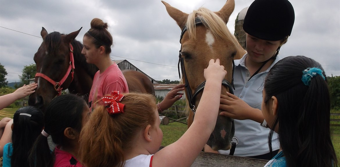Wayne County students invited 21st Century campers to visit and learn their horses over the summer