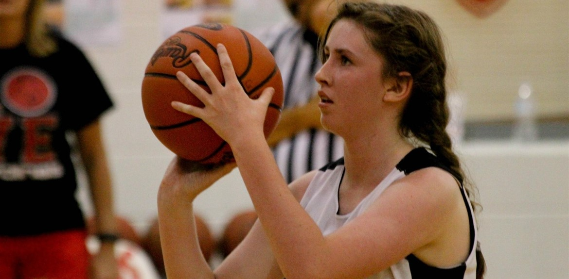 Amber Jones and her teammates lead off the Wayne County Middle School Girls Basketball season