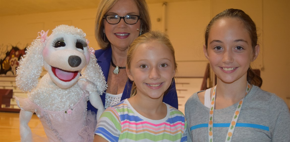 5th graders enjoy puppet presentation to learn to be $mart with Money