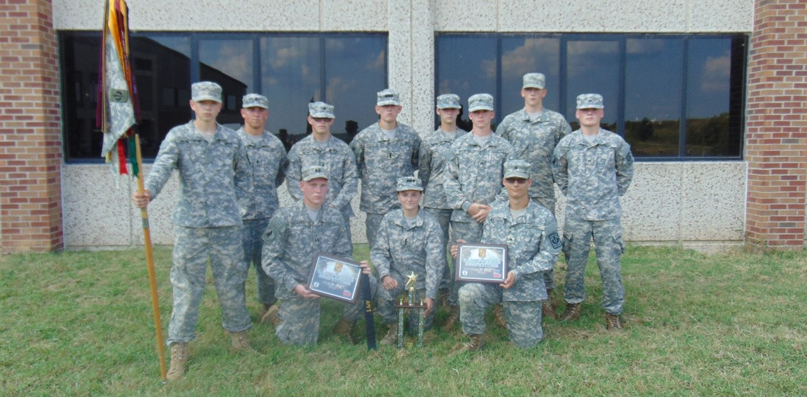 The JROTC Raider Team competed at the EKU meet and won top awards