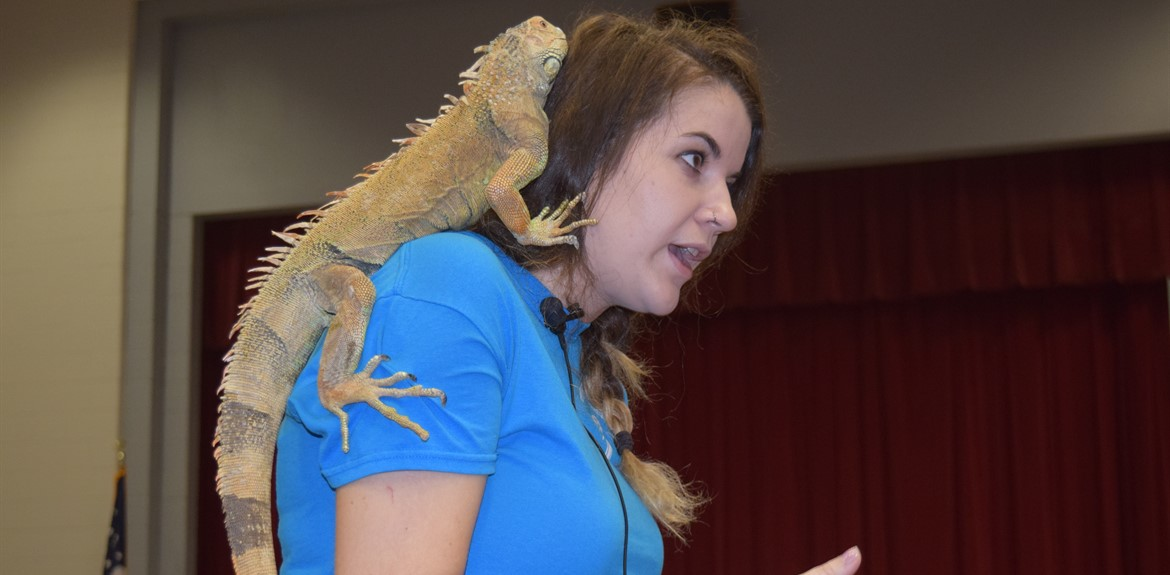 A rainforest animals assembly program was held for Freshmen and Sophomores on Thursday, January 12