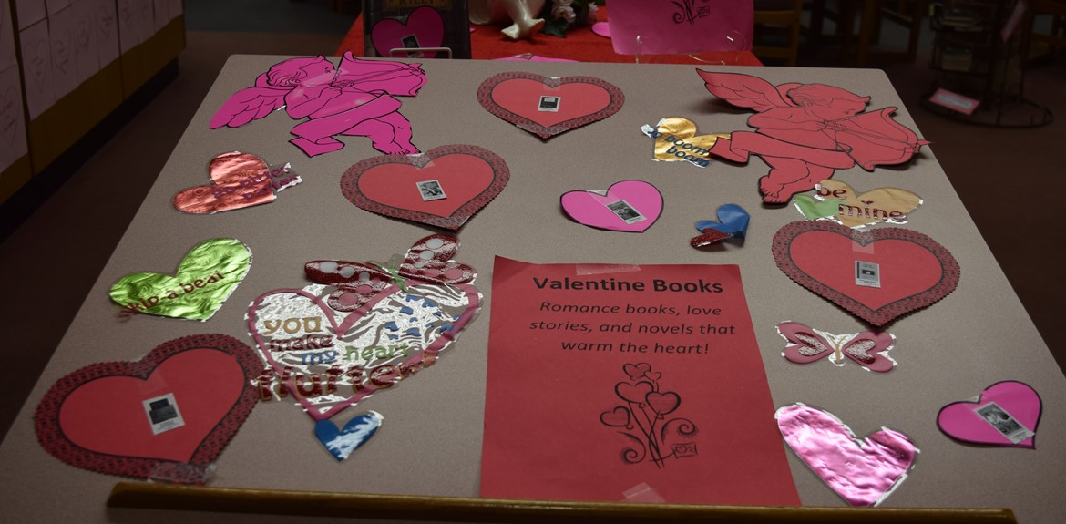 Check out Valentine Books at school libraries!