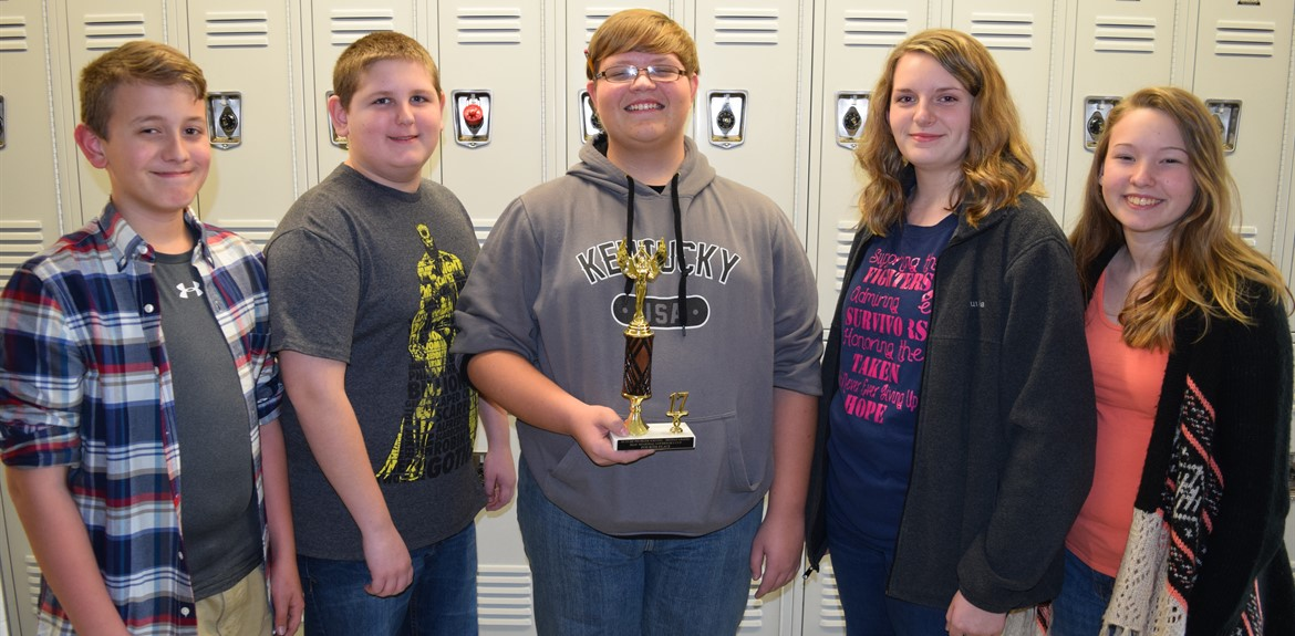 The Wayne County Middle School Academic Team