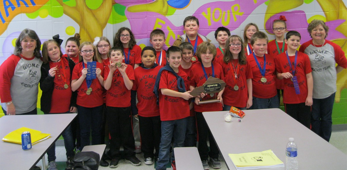 The Monticello Elementary Academic Team