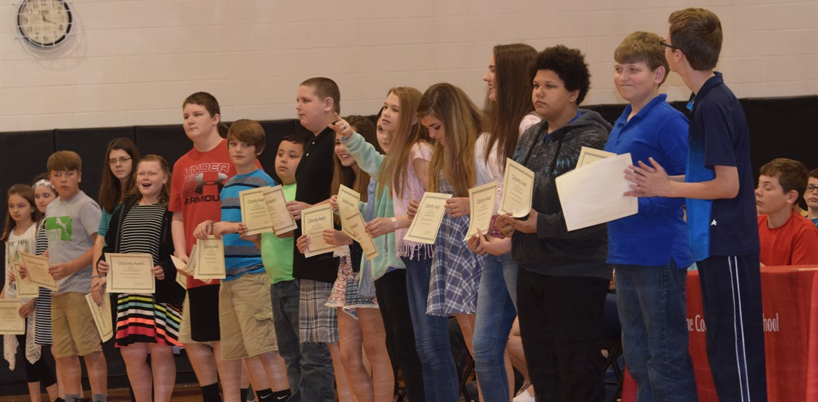 WCMS students enjoy recognition on awards day