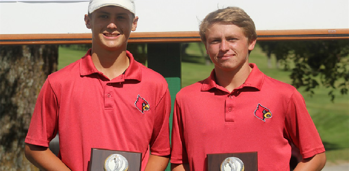 WCHS Golfers Resse Sexton (left) and Kameron Gehring (right) make it to region!