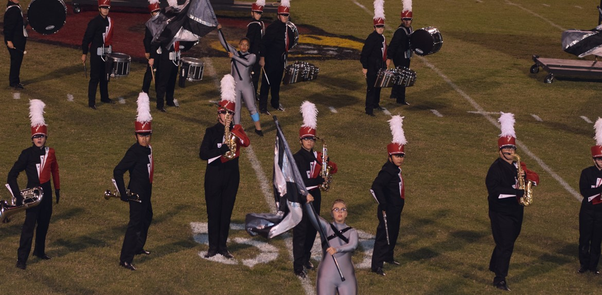 Award winning WCHS Marching Band performs show during football season