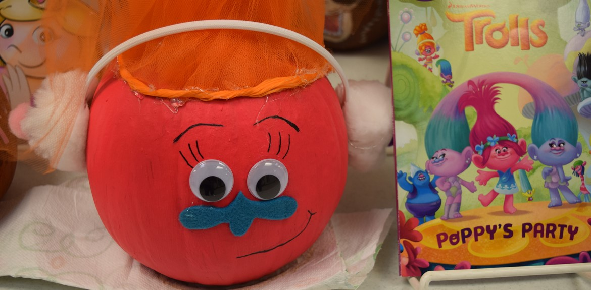 Walker students painted pumpkins to match their favorite book characters