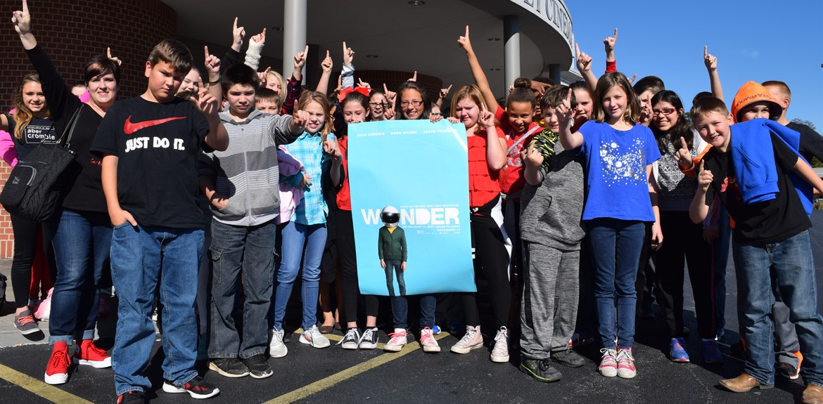 6th Graders Treated to Movie Premiere Showing