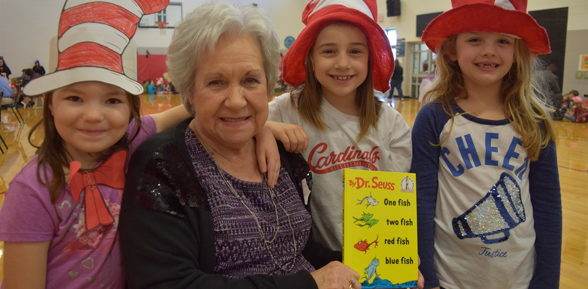 Bell Elementary enjoyed a series of guest readers, including Gale Ogle as pictured
