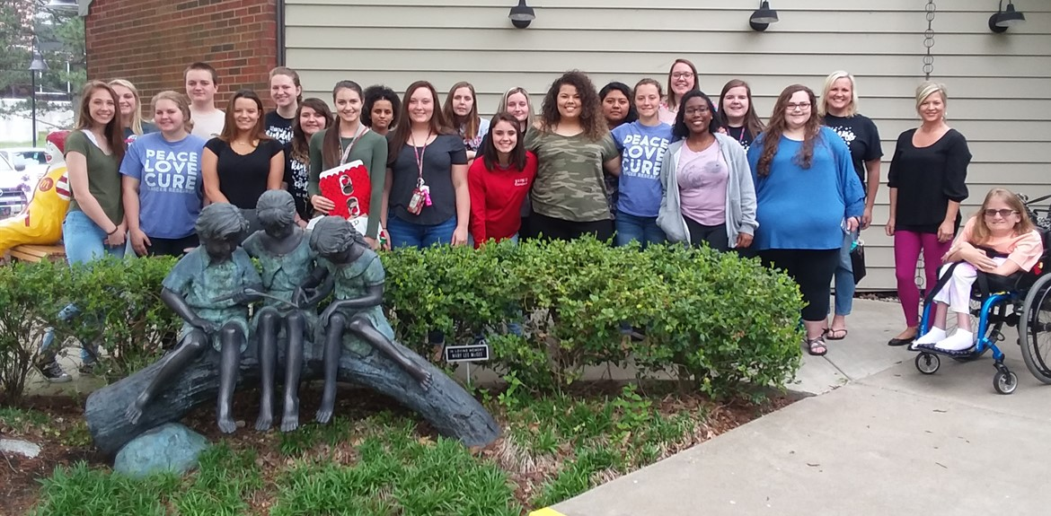 FCCLA students participated in service learning project collecting funds for Ronald McDonald House