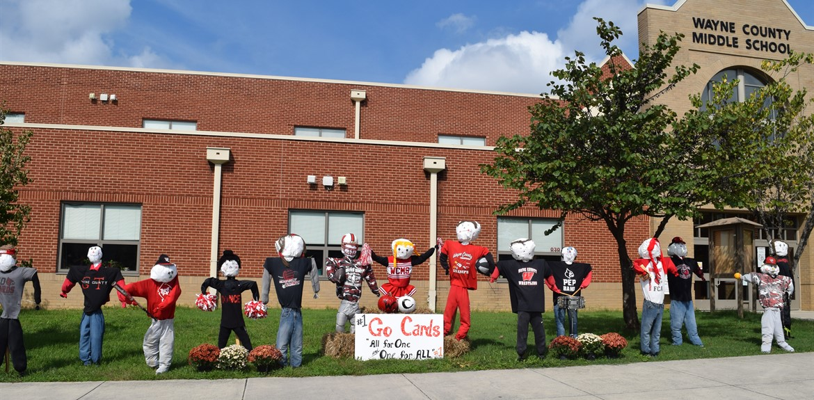 WCMS welcomes fall with a trail of scarecrows