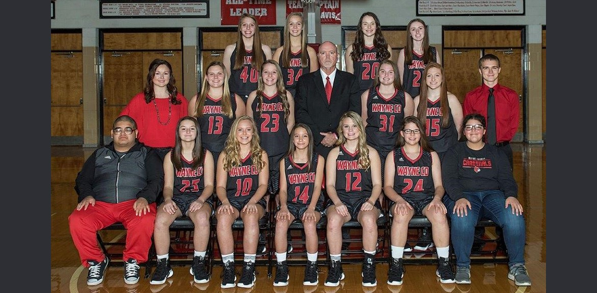 Lady Cards Basketball Varsity Team