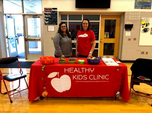 Kristina Morrow and Kristi Neal from the Healthy Kids Clinic