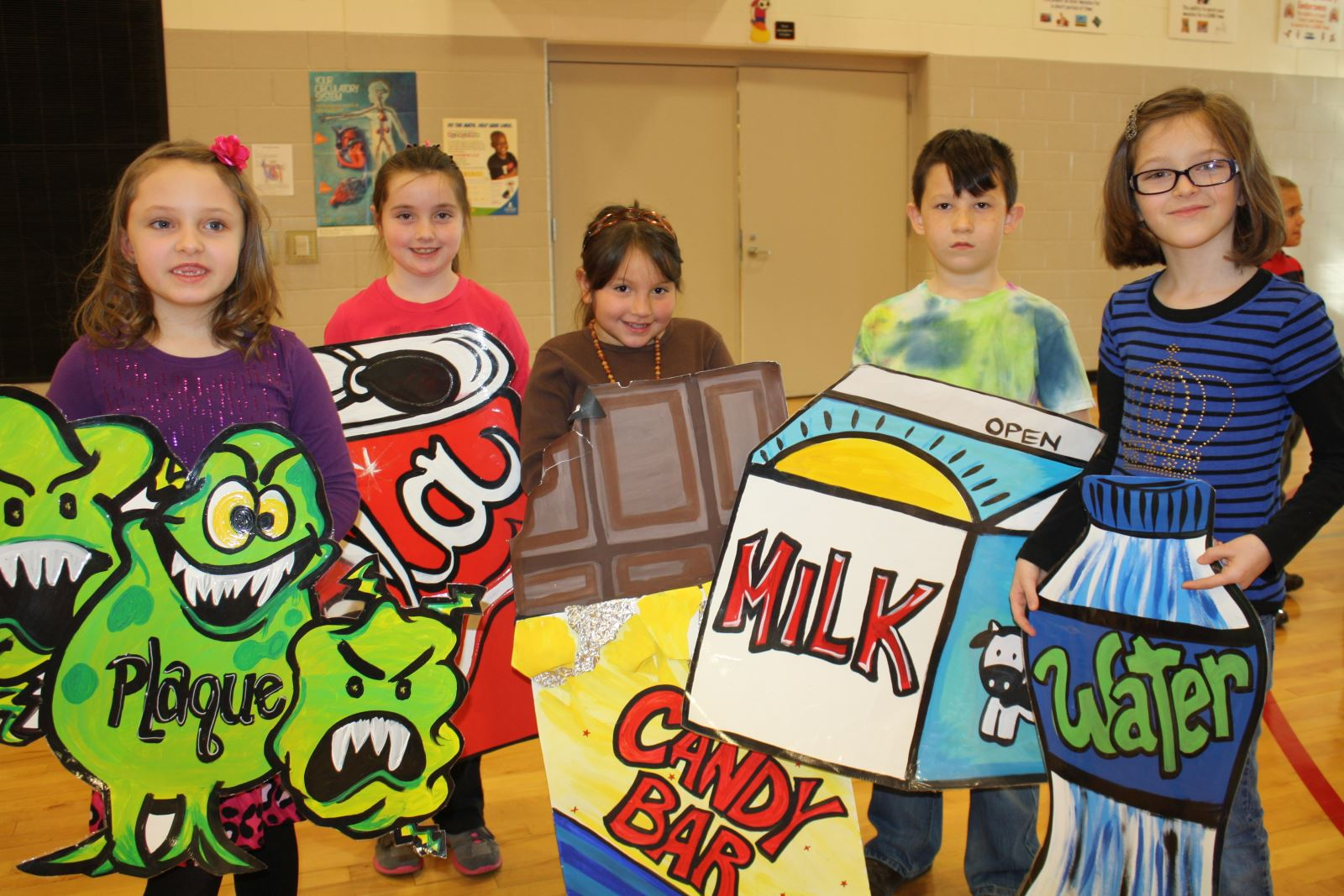 Bell elementary students participate in dental health musical plaque neveah anderson soda alyssa gregory candy bar rosalita troxell milk shawn davis water lana turner thecheapjerseys Image collections