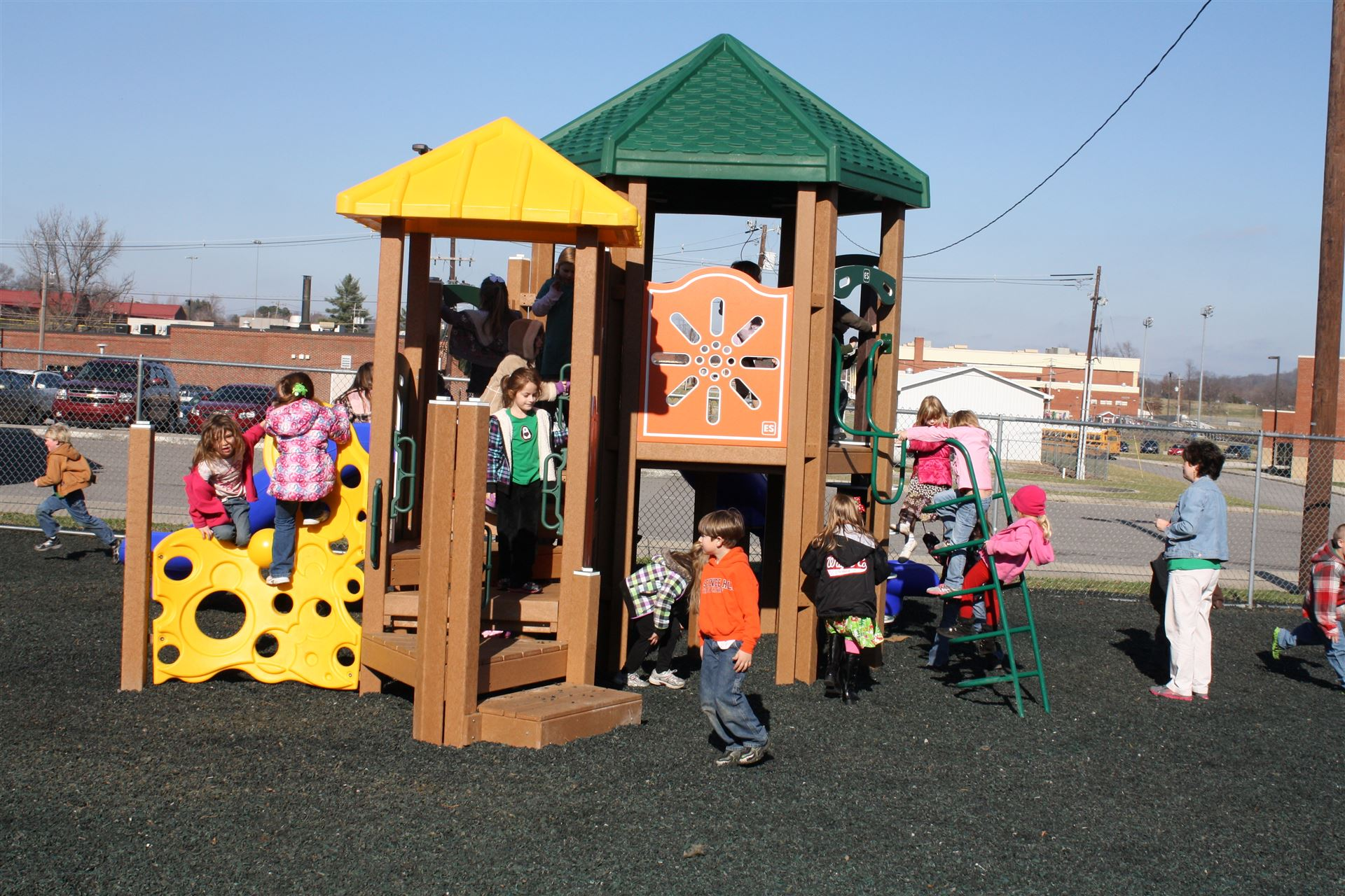 Walker Elementary unveils new playground equipment - Wayne ...