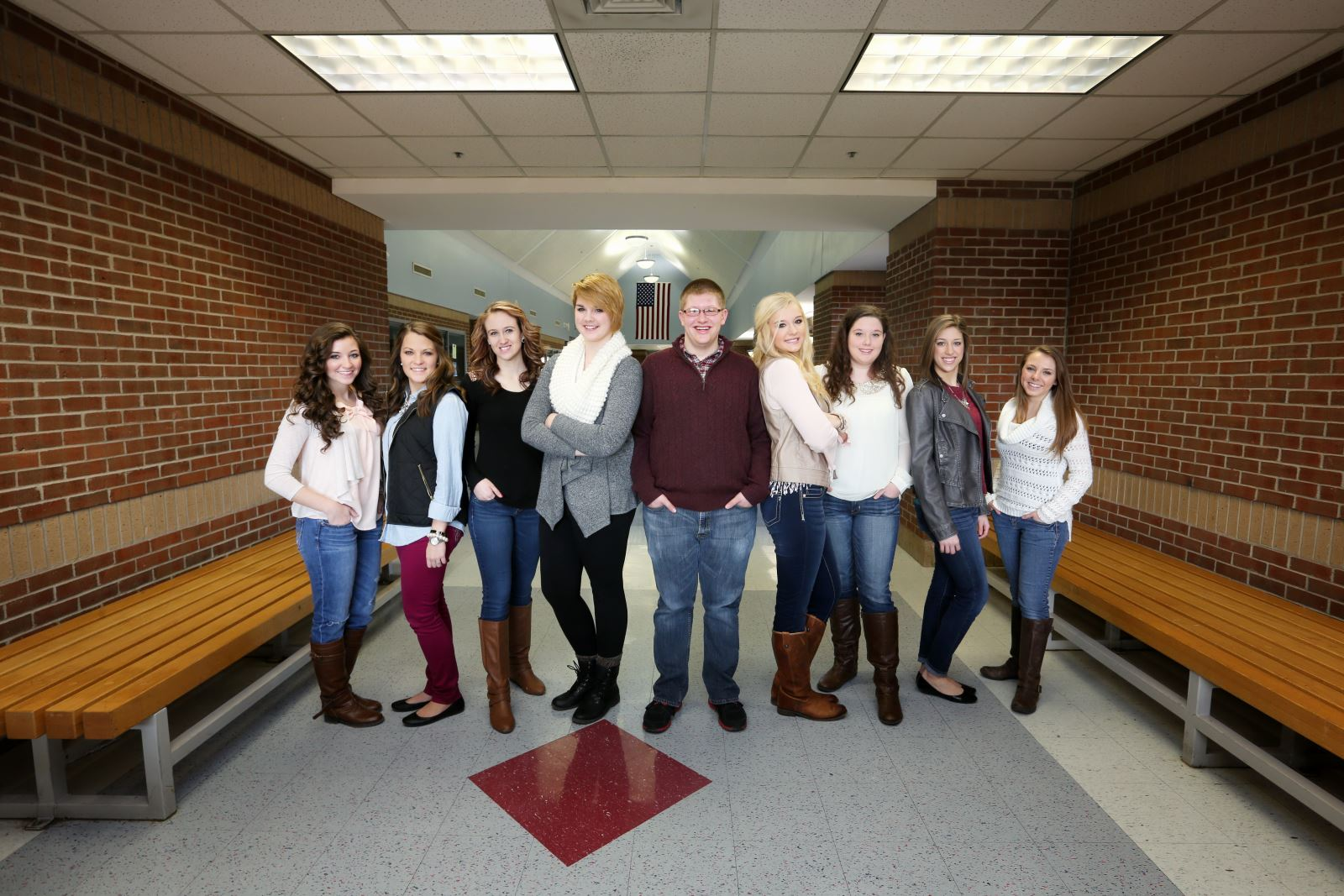 The Yearbook Staff L R Melody Massengale Tori Bell Claudia De Hay Haley Saylor Braxton Shearer Savannah Upchurch Taylor Griggs Mallory Hurd