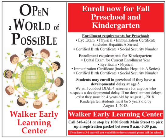 Enroll now for preschool and kindergarten!